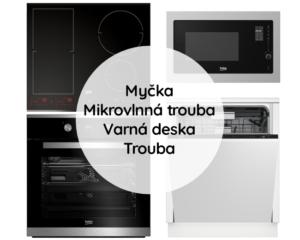Trouba + Mikrovlnná trouba + Varná deska + Myčka nádobí