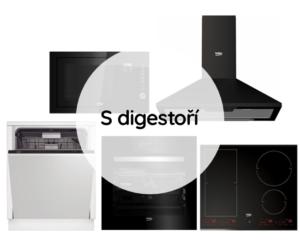 Trouba + Mikrovlnná trouba + Varná deska + Myčka + Digestoř
