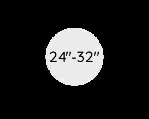 "24""-32"" (60 - 82 cm)"