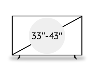 "33""- 43"" (83 - 109 cm)"