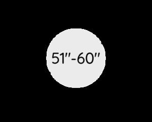 "51""- 60"" (128 - 153 cm)"