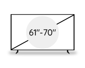 "61"" -70"" (154 - 177 cm)"