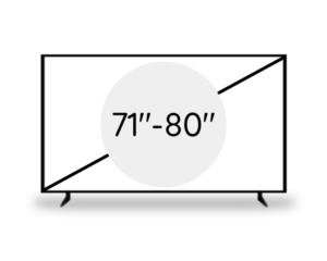 "71""- 80"" (178 - 203 cm)"