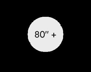 """81"""" a více (nad 204 cm)"""